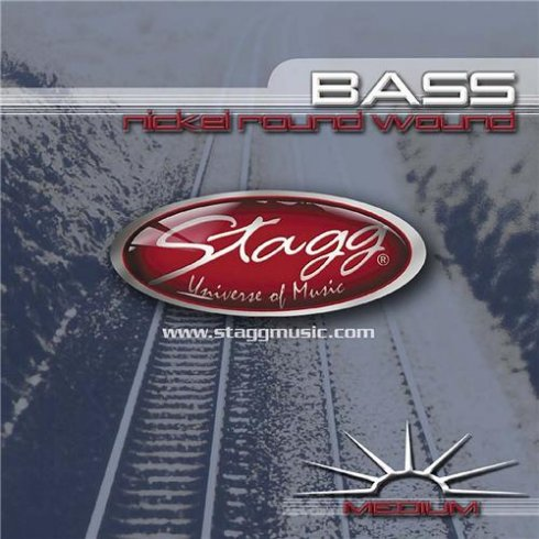 Stagg 4-String Nickel Round Wound Bass Strings 45-105 Medium Long Scale