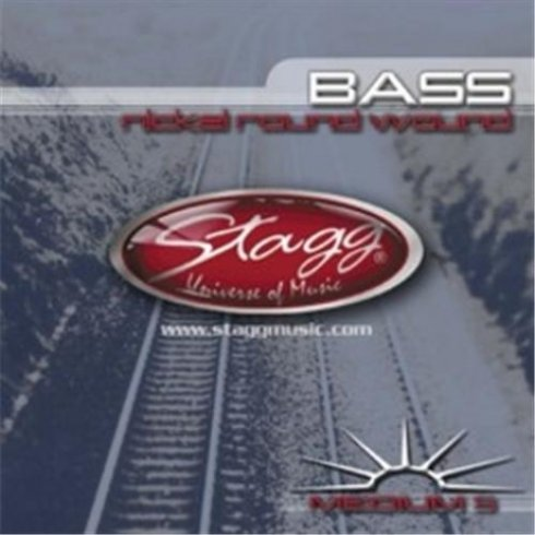 Stagg 5-String Budget Nickel 45-125 Long Scale Bass Guitar Strings