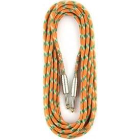 Stagg 6M/20ft Vintage Tweed Instrument Cable in Orange