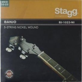 Stagg Banjo 5-String Nickel Med Light Strings - Ball End