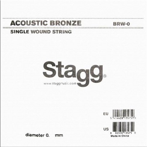 BRW-056 80/20 Bronze Wound Acoustic Guitar Single String .056