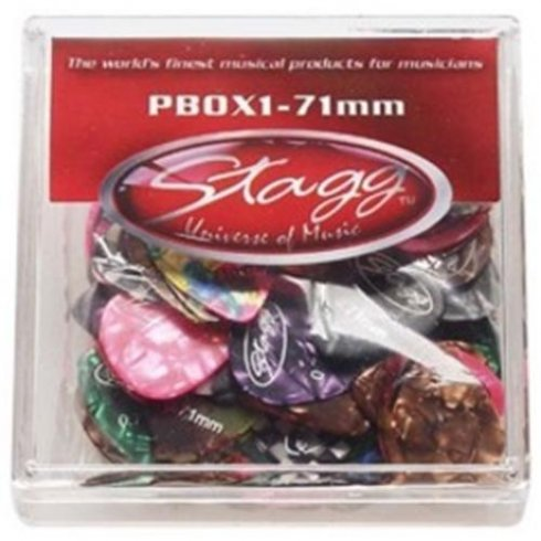 Stagg Celluloid Standard Pick Box of 100 (Assorted Colours) 1.50mm