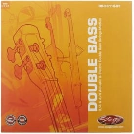 Stagg Double Bass Strings Set for 3/4 and 4/4 Acoustic and Electrics Medium Gauge