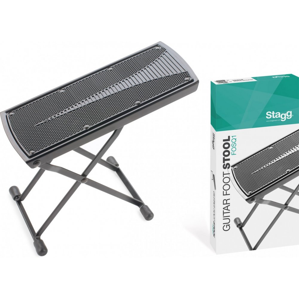 Fine Stagg Fosq1 Foldable Adjustable Foot Stool For Playing Guitar Evergreenethics Interior Chair Design Evergreenethicsorg