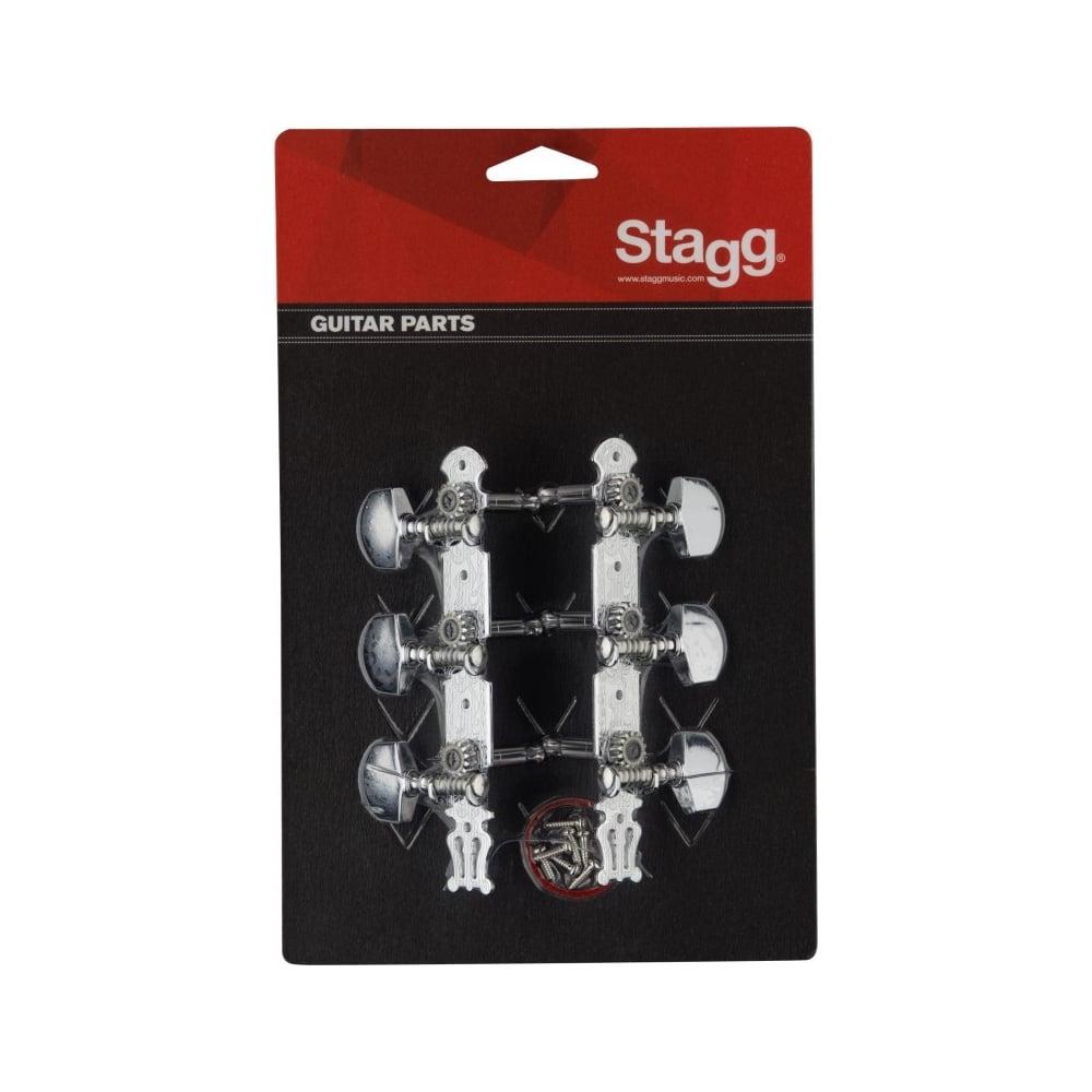 Stagg Kg367 3x3 Western Acoustic Guitar Machineheads Chrome Set