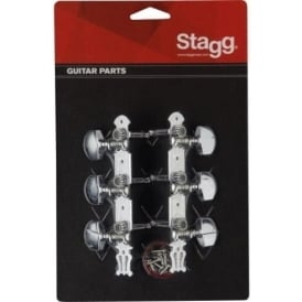 Stagg KG367 3x3 Western Acoustic Guitar Machineheads Chrome Set