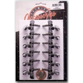Stagg KG679 6x6 Western 12-String Acoustic Guitar Machineheads Chrome Set of 12