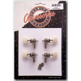 Stagg KU259 Chrome Machinehead Tuning Pegs for Ukulele Set of 4