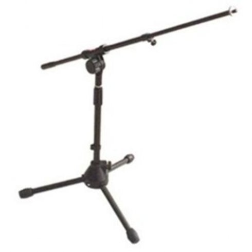 Stagg Low Profile Microphone Stand + Telescopic Boom (Black)