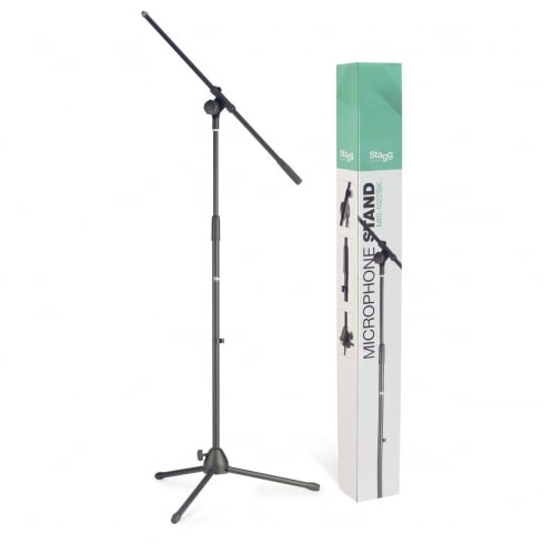 Stagg MIS-1022BK Microphone Boom Stand with Folding Legs