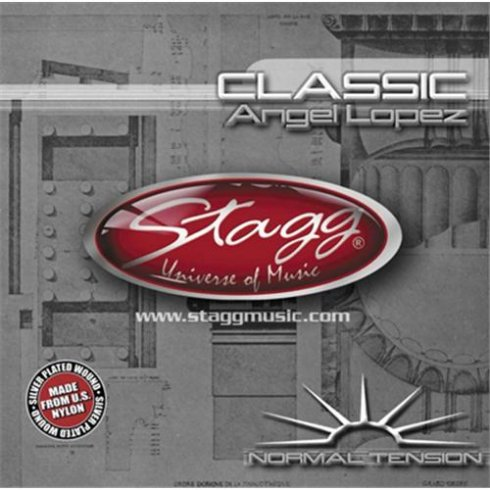 Stagg Nylon/Silver Plated Wound Classical Guitar Strings (Normal Tension)
