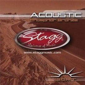 Stagg Phosphor Bronze Acoustic Guitar Strings 12-54 Light
