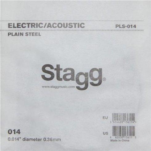 Stagg PLS-014 Plain Steel Single String .014