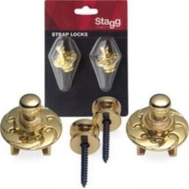 Stagg SSL1 Gold Guitar Secure Straplocks