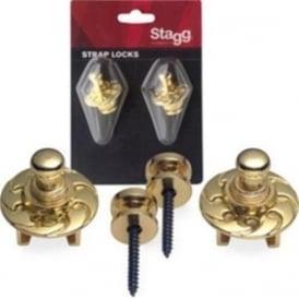 Stagg SSL1 Gold Guitar Secure Straplocks