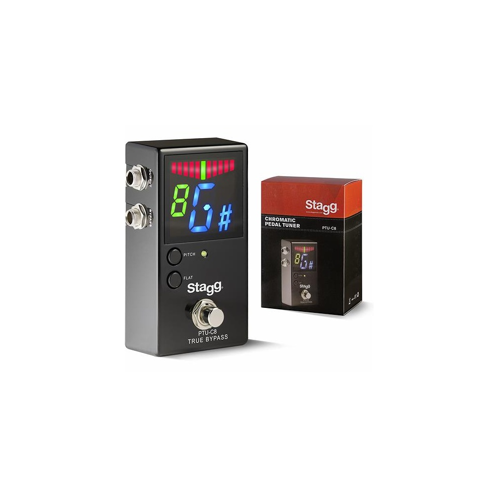 stagg auto chromatic floor pedal guitar tuner. Black Bedroom Furniture Sets. Home Design Ideas