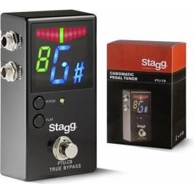 Stagg Auto-Chromatic Floor Pedal Guitar Tuner