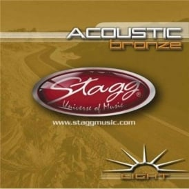 Stagg Bronze Acoustic Guitar Strings 12-54 Light Gauge