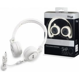 Stagg Deluxe Portable White Headphones