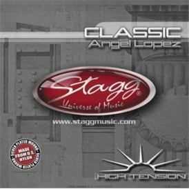 Stagg Nylon/Silver Plated Wound Classical Guitar Strings in High Tension