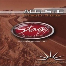 Stagg Phosphor Bronze 12-String Acoustic Guitar Strings 10-47