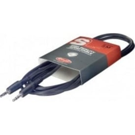 Stagg SAC3MPS 3ft/10 Metre Audio Mini Stereo Plug Cable