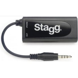 Stagg Guitar/Bass Adaptor for iPhone/iPad GB2IP-10 Self Powered