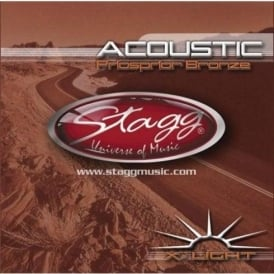 Stagg Phosphor Bronze Acoustic Guitar Strings 10-48 Extra Light
