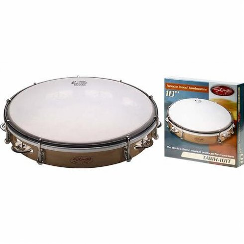 Stagg TAWH-101T 10 Tuneable Wooden Tambourine