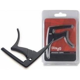 Stagg Ukulele Black Trigger Capo