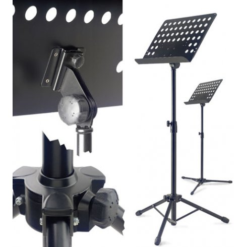 Stagg Standard Orchestral Music Stand with Black Metal Sheet Rest MUS-A5BK