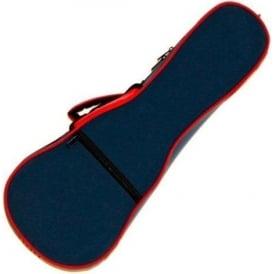 TGI Soprano Ukulele Foam Hardcase Blue/Red