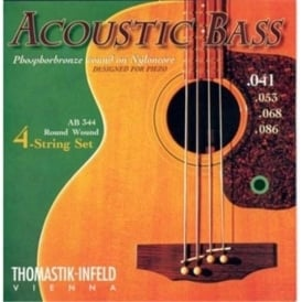 Thomastik AB344 Acoustic Phosphor Bronze Bass Guitar Strings, 41-86, Long Scale