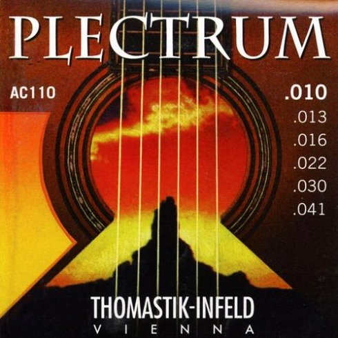 Thomastik AC110 10-41 Plectrum Bronze Acoustic Guitar Strings