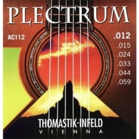 Thomastik AC112 Plectrum Bronze 12-59 Gauge Acoustic Guitar Strings