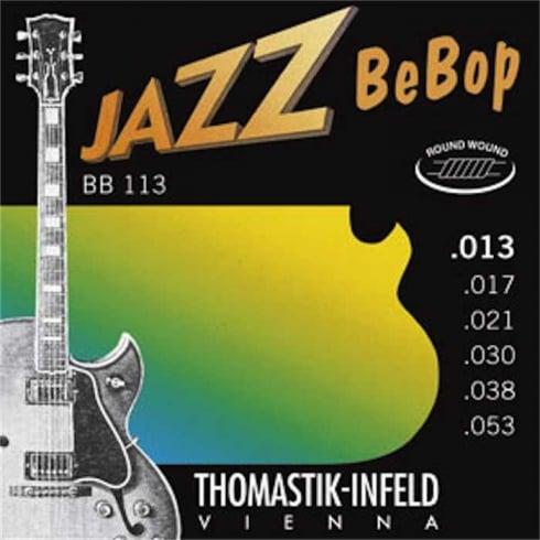 Thomastik-Infeld Thomastik BeBop Jazz Roundwound 13-53 Gauge Electric Guitar Strings BB113