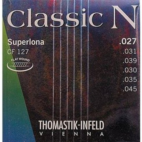 Thomastik CF127 N Series Nylon Normal Tension Flat Wound Guitar Strings