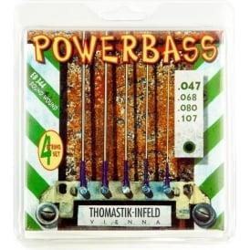 Thomastik EB344 Power Bass Roundwound Bass Strings 47-107