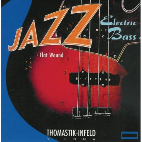 Thomastik-Infeld Thomastik JF324 Jazz Flatwound 4-String Bass Guitar Strings, 43-106 Short Scale