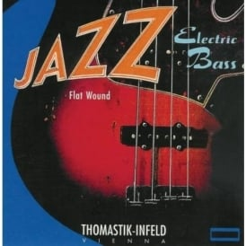 Thomastik JF324 Jazz Flatwound 4-String Bass Guitar Strings, 43-106 Short Scale