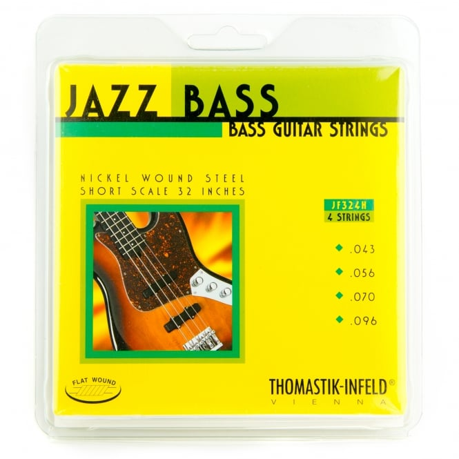 Thomastik JF324H Jazz Flatwound Hofner Bass Strings 43-96