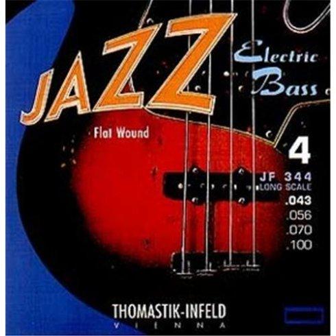 Thomastik-Infeld Thomastik JF345 Jazz Flatwound 5-String Bass Guitar Strings, 43-136 Long Scale