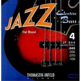Thomastik JF345 Jazz Flatwound 5-String Bass Guitar Strings, 43-136 Long Scale