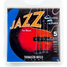 Thomastik JF345 Jazz Flatwound 5-String Bass Strings 43-136