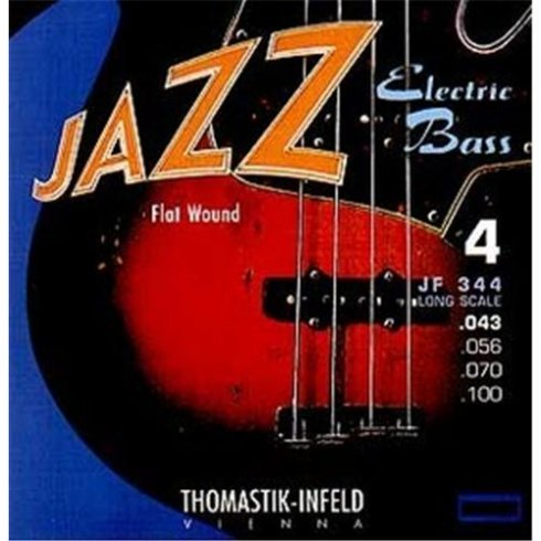 Thomastik-Infeld Thomastik JF346 Jazz Flatwound 5-String Bass Guitar Strings, 33-136 Long Scale