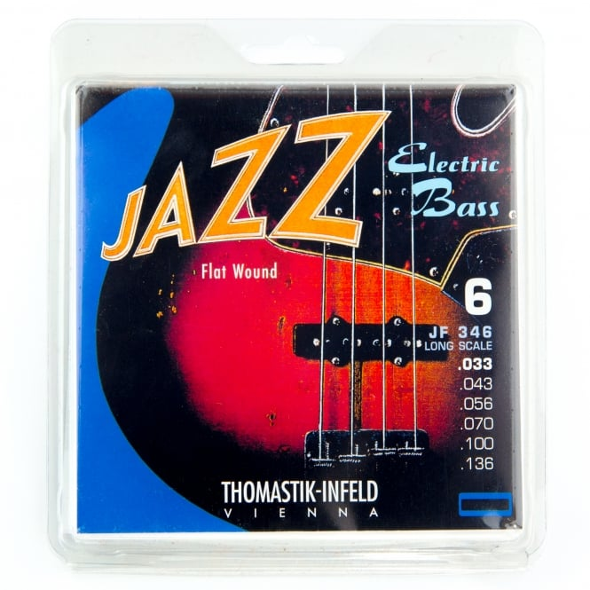 Thomastik JF346 Jazz Flatwound 6-String Bass Strings 33-136 Long Scale