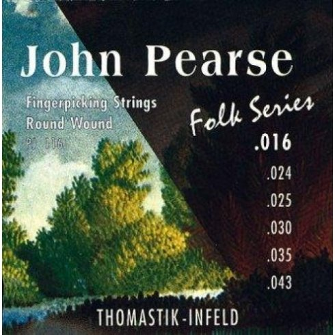 Thomastik-Infeld Thomastik John Pearse PJ116 Folk Flatwound Acoustic Guitar Strings
