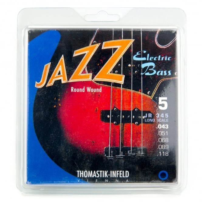 Thomastik-Infeld Thomastik JR345 Jazz Roundwound 5-String Bass Strings 43-118