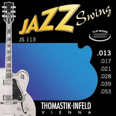 Thomastik JS113 Jazz Swing Flatwound 13-53 Electric Guitar Strings