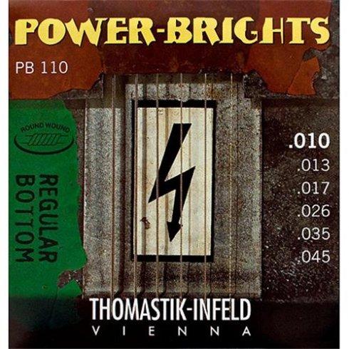 Thomastik PB110 Power-Bright 10-45 Electric Guitar Strings
